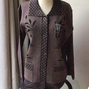 Sweaters - Cardigan sweater in brown XL NWT